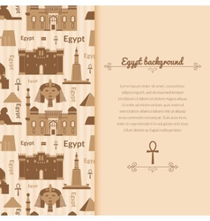 Landmarks of Egypt background vector image vector image