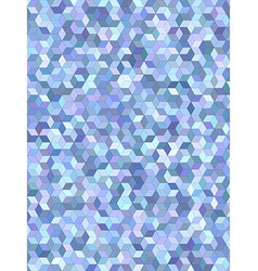 Light blue 3d cube mosaic background design vector