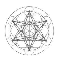 Metatrons cube sacred geometry vector