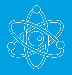 Model of atom icon outline style vector
