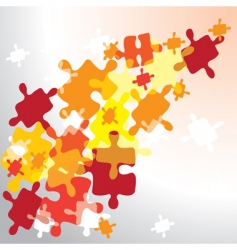 puzzles background vector image vector image