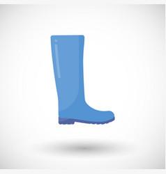 Rain boots flat icon vector