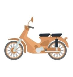 Retro scooter vector image vector image