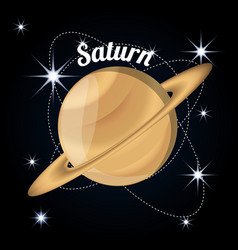 Saturn planet in the solar system creation vector