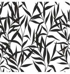 seamless pattern with leaves on a white background vector image vector image