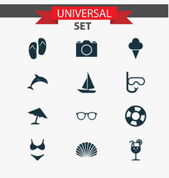 Season icons set collection of lifesaver sorbet vector