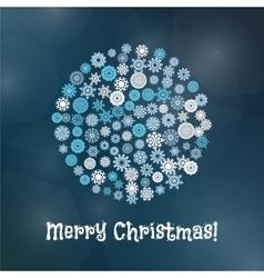 Snowflake Christmas Banner vector image