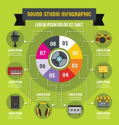 Sound studio infographic concept flat style vector