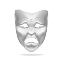 Template Blank White Mask Theatre vector image vector image