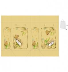 vintage floral bag vector image vector image