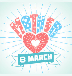 8 march holiday vector