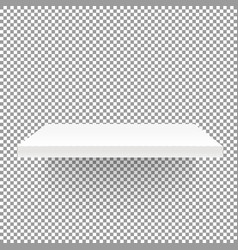 white empty shelf on transparent background mockup vector image