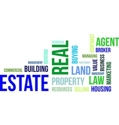 Word cloud real estate vector