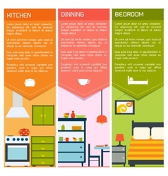 House interior banners vector