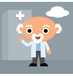 Doctor at hospital vector