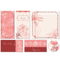 retro floral backgrounds vector image