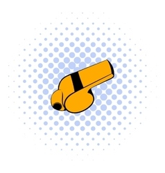 Whistle icon comics style vector