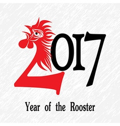Rooster bird concept of Chinese New Year of the Ro vector image