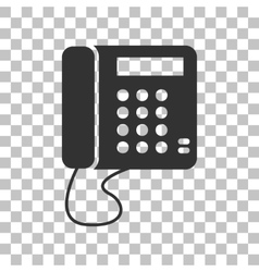 Communication or phone sign dark gray icon on vector