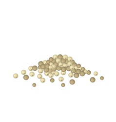 A heap of dry peppercorns on white background vector