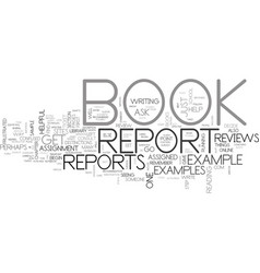 A helpful book report example text word cloud vector