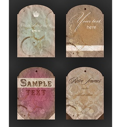 Aged paper kit for design vector