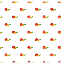 Apple and carrot pattern cartoon style vector