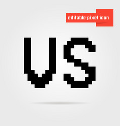 black editable vs pixel icon vector image vector image