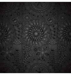 black floral lace wallpaper vector image vector image
