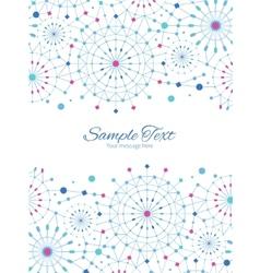 Blue abstract line art circles vertical vector