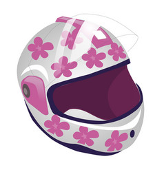 cartoon of sport helmet for roller vector image