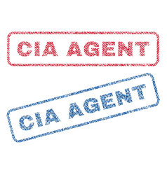 Cia agent textile stamps vector