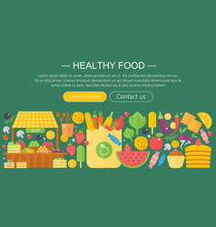 cooking collection healthy food infographics vector image vector image