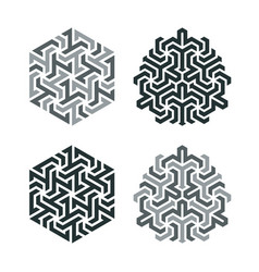 Design tattoo in geometric tessellation style vector