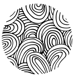 doodle circle 1 vector image vector image
