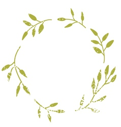 Elegant wreath with leaves vector