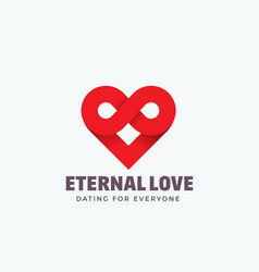 eternal love abstract sign emblem or logo vector image vector image