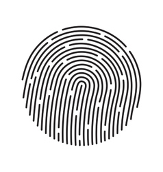 Fingerprint identification system black symbol vector image