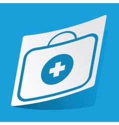 First aid kit sticker vector
