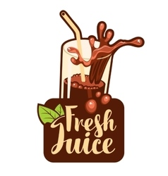 glass of fresh juice vector image