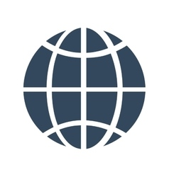 Global technology information system icon vector