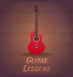guitar lessons school flat vector image