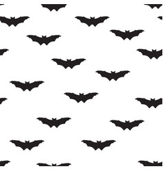 Halloween bat seamless pattern holiday halloween vector