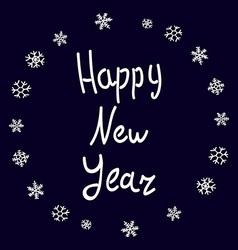 Happy New Year Lettering 2016 card greeting vector image