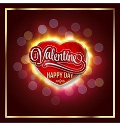 Happy Valentines Day Creative graphic message for vector image vector image