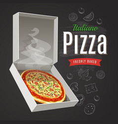hot pizza vector image vector image