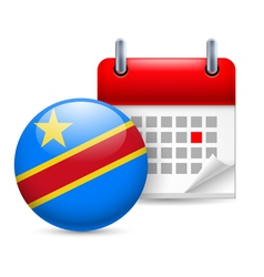 Icon of National Day in Democratic Republic of vector image