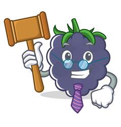 Judge blackberry character cartoon style vector