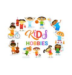kids hobbies art classes logo workshop creative vector image
