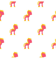 Little pony pattern seamless vector